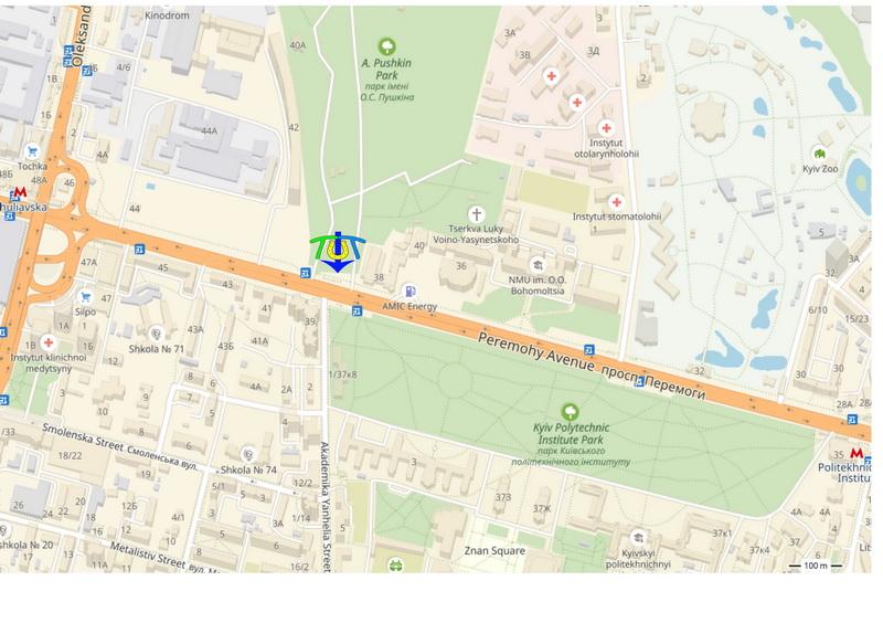 карта проезда к Памятнику Пушкину