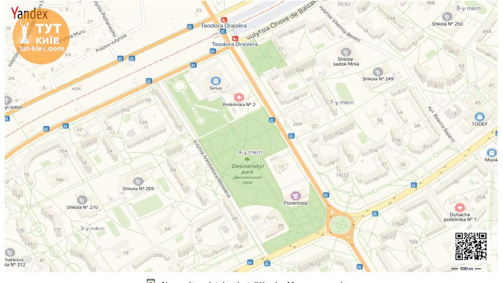 Деснянский парк мапа