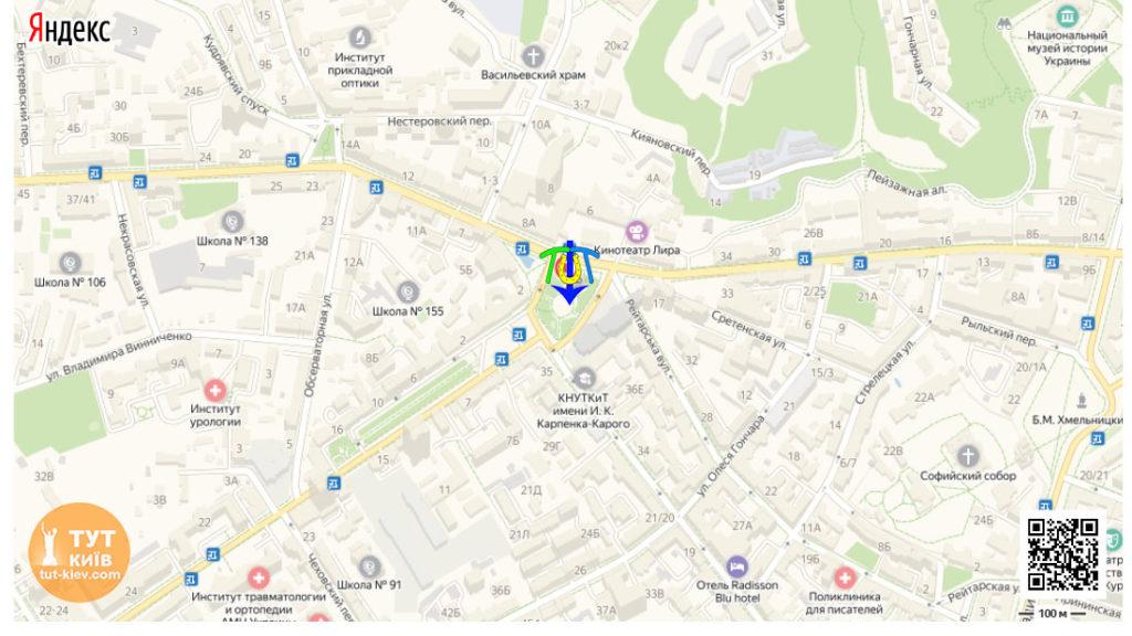 Львовская площадь карта