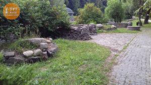 каменные заборы парк Феофания