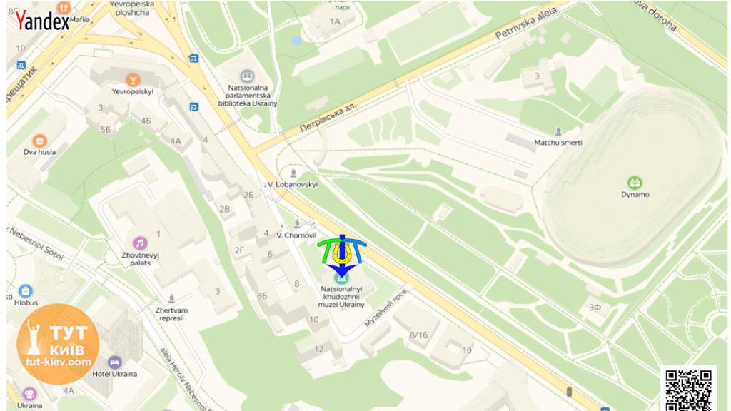 карта Национальный художественный музей Украины