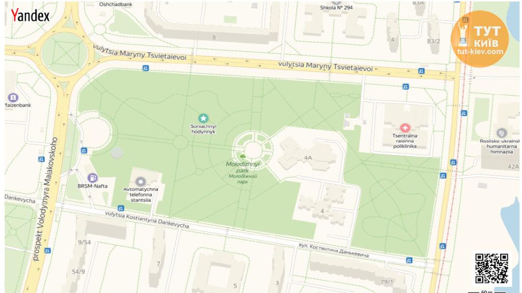 карта Молодежный парк