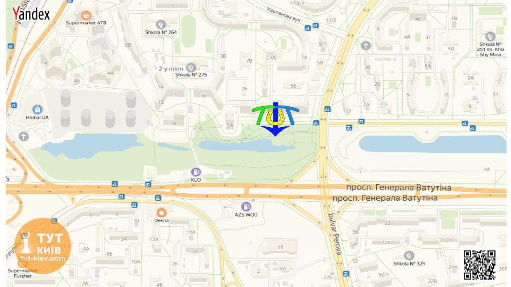 карта новый парк на Троещине