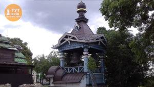 колокольня в ботаническом саду