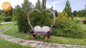 лавочка влюбленных парк Феофания