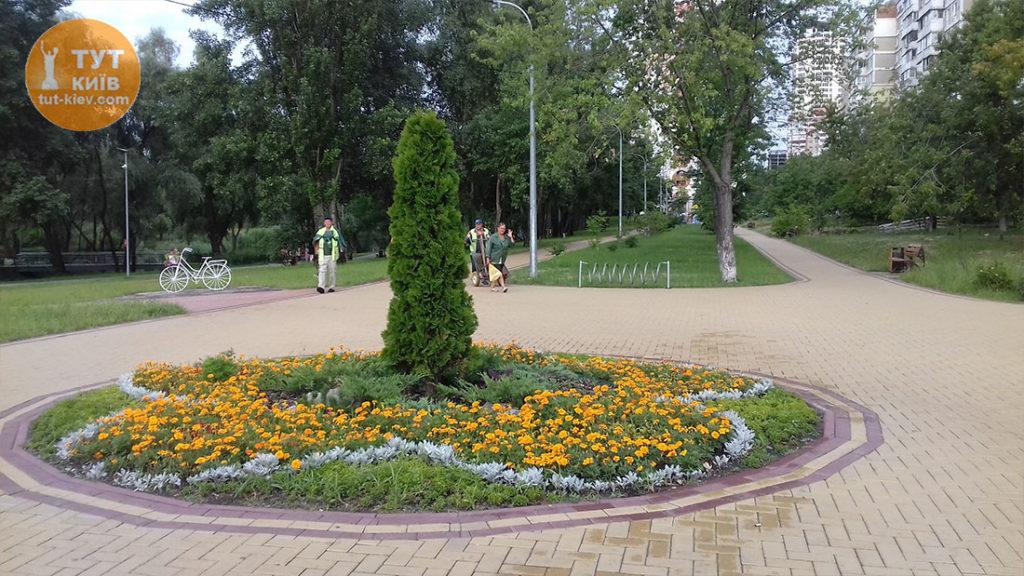 новый парк на Троещине