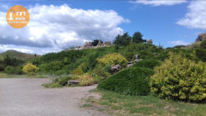 скалы в ботаническом саду