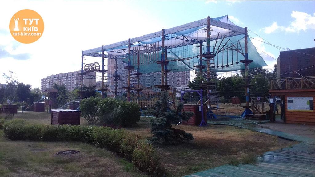 веревочный парк в Молодежном парке