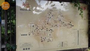 карта в музее Пирогово