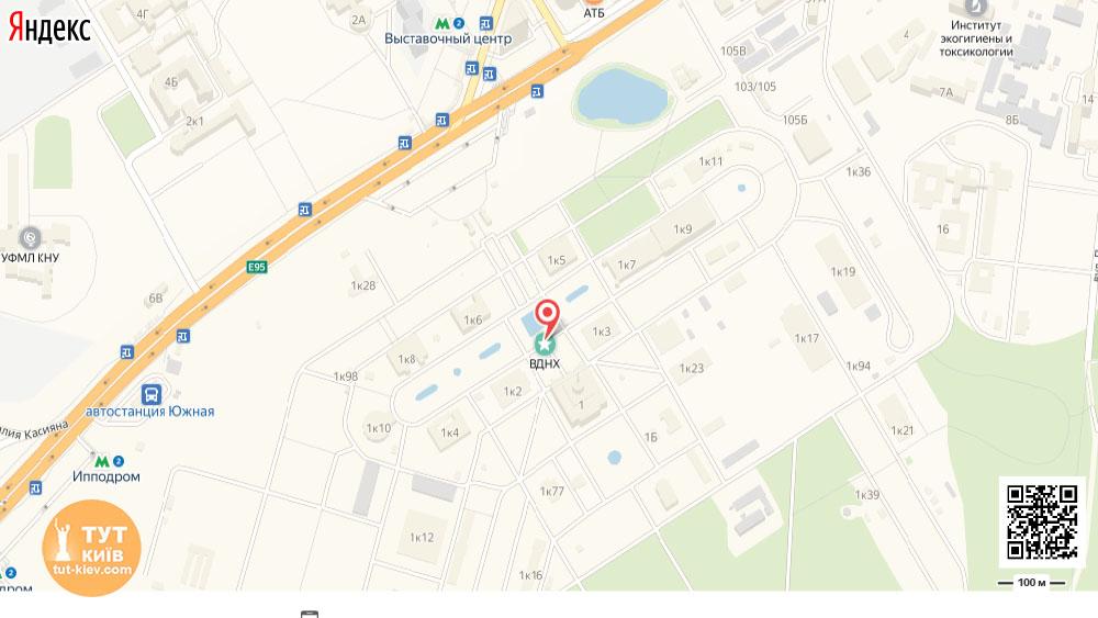 карта ВДНХ