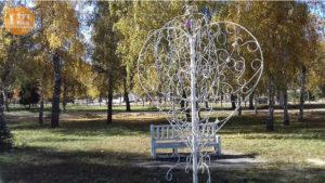 дерево любви парк Юность