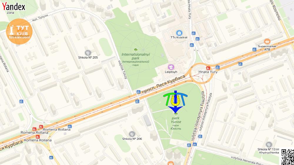 карта парк Юность