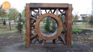 клумба солнечный портал парк Позняки