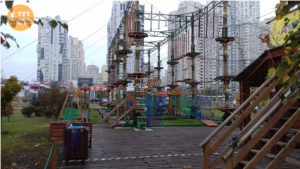 веревочный парк на Позняках