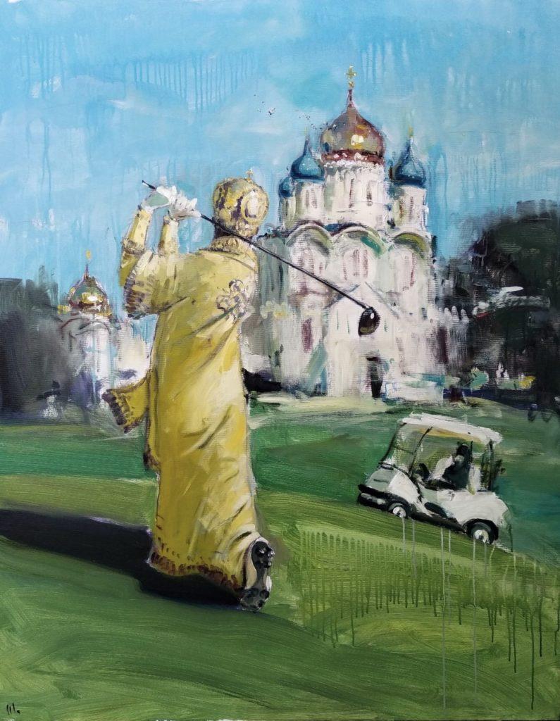 святой отец изгоняющий голубей с купола храма